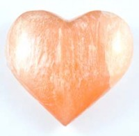 Natural Wholesale Crystals Australia Sydney Crystal Carving Selenite Red Heart 005