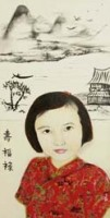 Greeting Card - Little China Girl