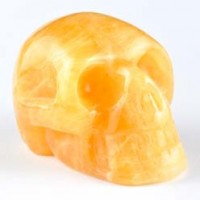 Wholesale Crystals Australia Natural Crystal Skull Orange Calcite