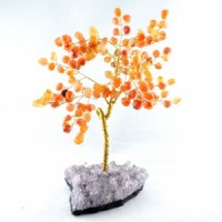 Wholesale Natural Crystals Australia Crystal Trees large carnelian on amethyst