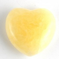 Australia Wholesale Crystal Carvings Crystal Heart calcite yellow