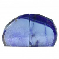 wholesale stones purple agate bookends (26)