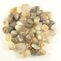 Tumbled Stones Wholesale crystal polished Rutilated quartz