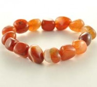 Wholesale Crystal Crystal Tumbled bracelet Agate Fire
