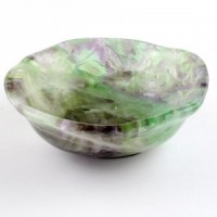 Beautiful Polished Crystal Bowls rainbow fluorite