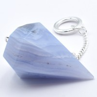 Blue Lace Agate Pendulum with chain