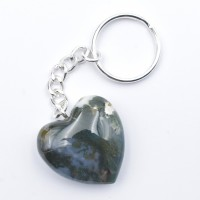 Agate Green Moss Keyrings Hearts crystals wholesale