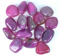 Coloured Pink Agate Large Tumbled Crystals crystals wholesale australia