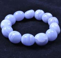 Wholesale Crystals Bracelt Jewellery Tumbled Blue Lace Agate