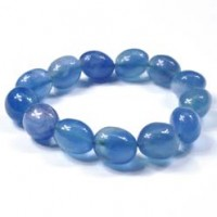 Wholesale Crystals Online Crystal Jewellery Bracelet Tumbled Blue Fluorite