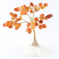 Wholesale Natural Crystals Australia Crystal Trees carnelian on clear quartz