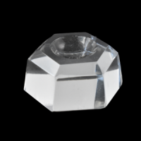 Glass Hexagon small Crystal Ball Stand wholesale crystals adelaide