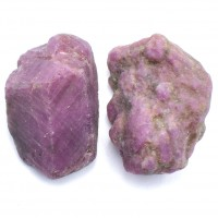 2 Pack of Ruby Red Natural Specimens