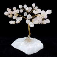 Wholesale Natural Crystals Australia Crystal Trees rose quartz on clear quartz base