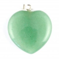Crystals Wholesale Australia Polished Crystal Jewellery Heart Pendant green aventurine