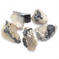 Tourmaline In Smoky Quartz wholesale stones and crystals