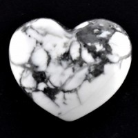 Wholesale Crystals Online Polished Crystal Heart white howlite