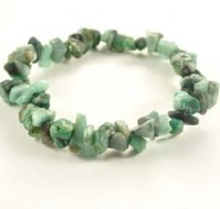 Stones Wholesale Crystal Chip Bracelet Emerald