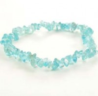Crystals Wholesale Crystal Chip Bracelet Blue Apatite