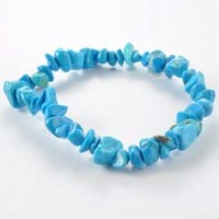 Stones Wholesale Crystal Chip Bracelet Turquoise