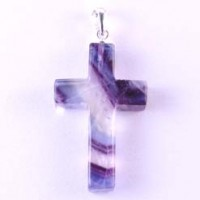 Crystals Wholesale Crystal Jewellery Cross Pendant Rainbow Fluorite