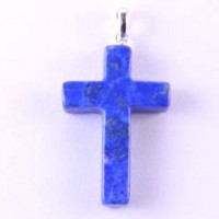 Wholesale Stones Crystal Jewellery Pendant Cross Lapis Lazuli