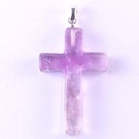 Wholesale Crystals Crystal Jewellery Pendant cross Amethyst