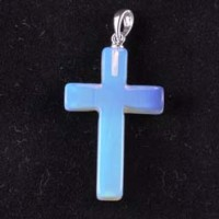 Stones Wholesale Crystal Jewellery Pendant Cross Opalite