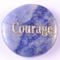 Wholesale Crystals For Sale Crystal Word Courage Blue Aventurine