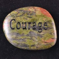 Wholesale Crystals Crystal Word Stone Courage unakite