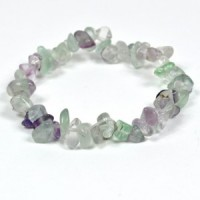 Crystals Wholesale Natural Crystal Chipped Bracelet Rainbow Fluorite
