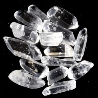 Clear Quartz Tumbled Polished Points 5-12 pcs