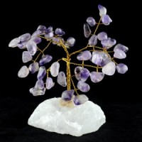 Wholesale Natural Crystals Australia Crystal Trees amethyst on clear quartz