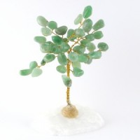 Wholesale Natural Crystals Australia Crystal Trees green aventurine on clear quartz
