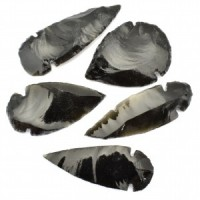 Buy Wholesale Crystals Black Obsidian Arrowheads Pendants