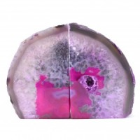 stones wholesale pink agate bookends (15)