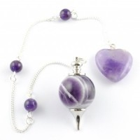 Australia Natural Wholesale Crystals Pendulum Polished Amethyst