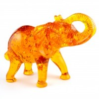 Natural Crystals Australia Wholesale Crystal Animal Carving Amber ElephantPG (2)