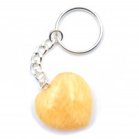 Calcite Orange Keyrings Hearts wholesale stones and crystals