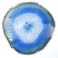 Blue '12' Agate Slices crystals wholesalers