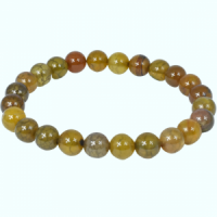Fire Agate Yellow Bead Bracelets natural crystal wholesale