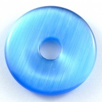 Wholesale Crystals Australia Online Crystal Jewellery Pendant Donut Cat Eye Blue