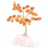 Wholesale Natural Crystals Australia Crystal Trees carnelian on rose quartz