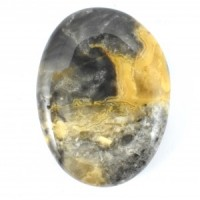wholesale stones yellow crazy lace agate palm stone (9)