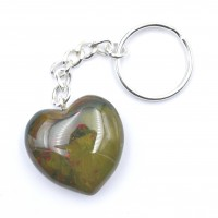 Bloodstone Keyrings Hearts wholesale crystals and stones