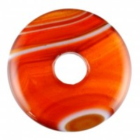 Crystals for Sale Jewellery Crystal Donut Pendant Carnelian Banded