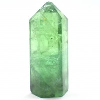 Six Sided Polished Green Crystal Fluorite