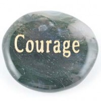 Wholesale Crystals Crystal Word Stone Courage green moss agate