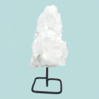 Clear Quartz Points on Metal Stand crystal wholesalers