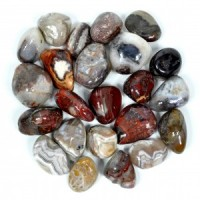 Wholesale Crystals Australia Crystal Polished Tumbled Stone red crazy lace agate